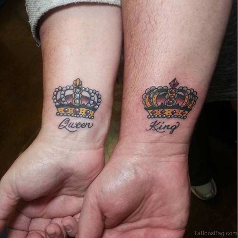 Latin King Crown Tattoos - Pretty-King-And-Queen-Crown-Tattoo