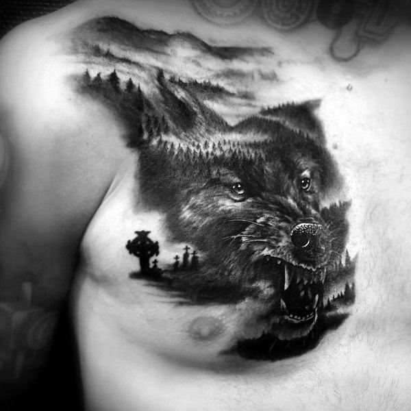 Gothic animal tattoos